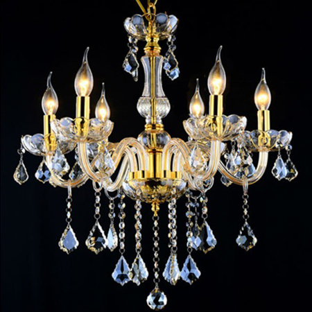 "D23"" Crystal Chandelier Light Fixture, Glass Chandelier Luster Lamp Fitting Different Colors and Ready Stock"