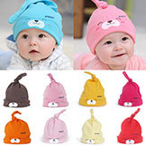Comfort Cartoon Baby Toddlers Cotton Sleep Cap Headwear Cute Hat Mult-Colors Free &