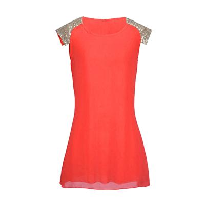 Женское шифоновое мини платье