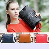 2014 Genuine Leather Crocodile Women's Handbag Shoulder Bag Messenger Bag Day Clutch Handbag