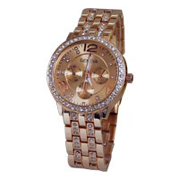 China Manufacture High Quality and Good Women Gold Watch