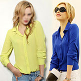 2014 Summer Long-Sleeve Shirt Women's Chiffon Women's Shirt White Slim Small Fresh Cs8815