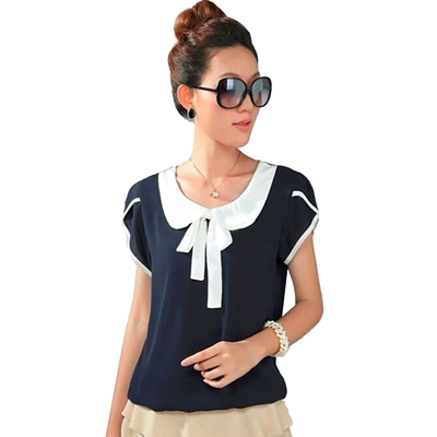 Шифоновая блузка большого размера