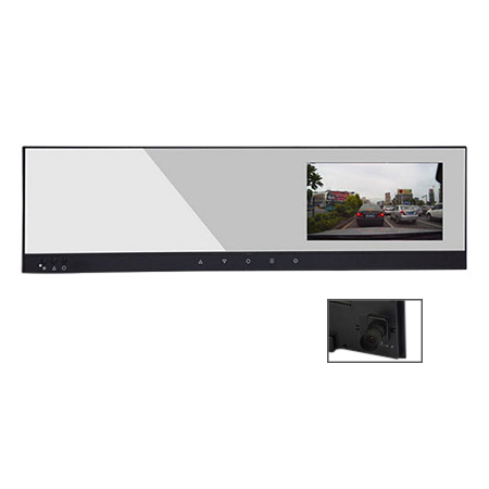 4.3inch rearview mirror monitor with 720P DVR,AV in