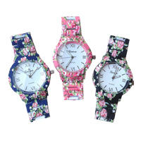 Fashion Women Metal Geneva Flower Watch