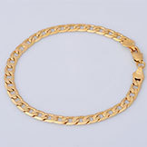 Men's Jewelry Cuban Link Bracelet Unisex 18K Yellow Gold Filled Bracelet Chain B57