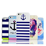 Stripe Navy Cute Girl Flower Vintage Retro Eiffel UK Us Flag Cartoon Series Hard Case Iphone5 iPhone 5 5S Cover Iphone5S