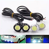 23mm White Eagle Eye Daytime Running Light LED Car Lights DRL Lamp Daytime Lights Waterproof Parking Light