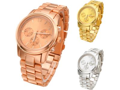 Relógio feminino movimento quartzo 100% liga metálica