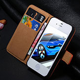 Retro Flip Leather Case w/ Wallet for iPhone 4/4S/5/5S