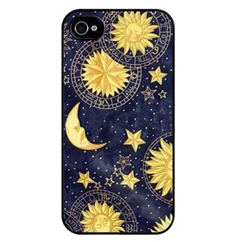 чехлы Для Айфона case for iphone 4 4S 5 5S 5C 6 4.7 Природный солнце луна шаблона мило мило специально отпечатанные жесткого пластика мобильный протектор чехол для Iphone 4 4S 5 5S 5C 6 4.7