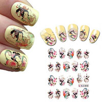 Girls' Floral Nail Sticker