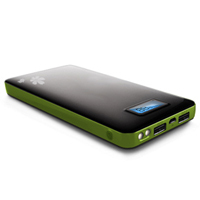 clearance sale 13200mah digital power bank (black+green)