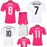 Real Madrid Home/Away Soccer Jersey Set