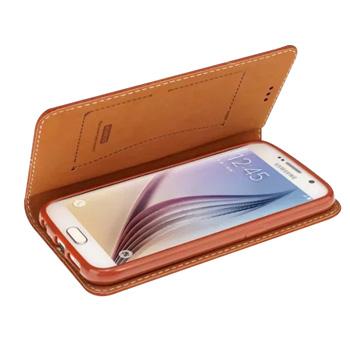 Для Galaxy S6 чехол крышка оригинальный роскошный симпатичные жесткий силикон флип кошелек марка кожаный чехол для Samsung Galaxy S6 G9200