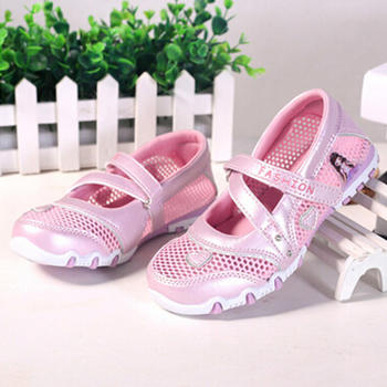 Frete grátis meninas sapatos de verão sapatos novos princesa 2016 doce dos desenhos animados princesa meninas sandálias sandálias das crianças sapatos de bebê