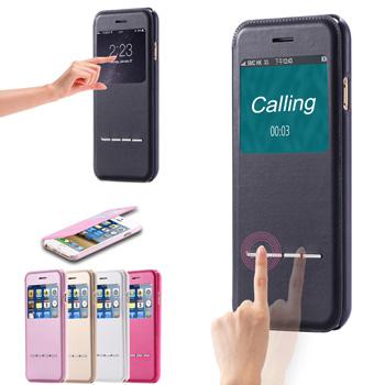 Смарт чехол для iphone 6 4.7 вид из окна для apple , плюс 5.5 дюймов роскошный кожаный флип телефон сумка