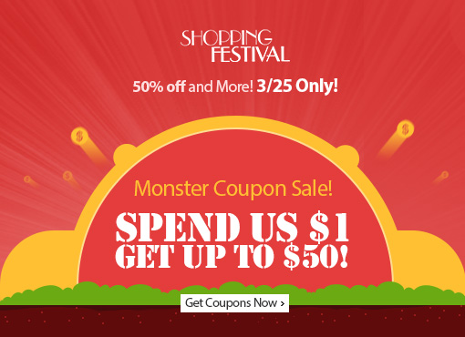 AliExpress Shopping Festival - New Creative 50% OFF Sale Items and more